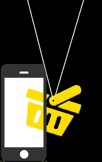 smartphone winkelmandje