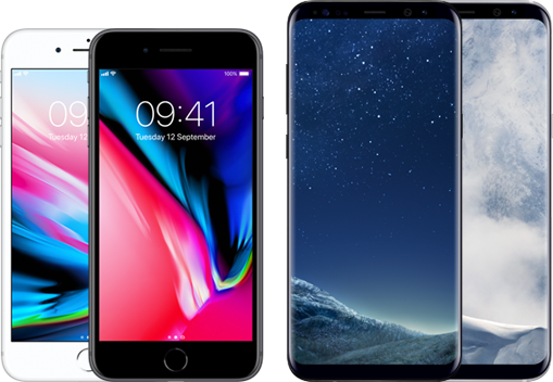 iPhone 8 Plus versus Samsung Galaxy S8 Plus