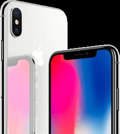iPhone X zilver zwart mobiel