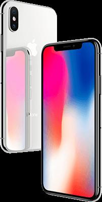 iPhone X zilver & zwart