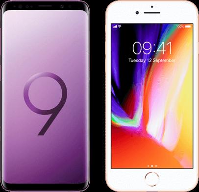 Samsung Galaxy S9 versus iPhone 8