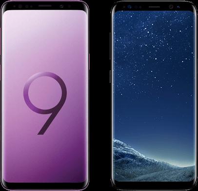 Samsung Galaxy S9 versus Samsung Galaxy S8