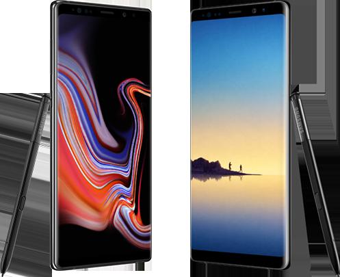 Samsung Galaxy Note 9 versus Note 8