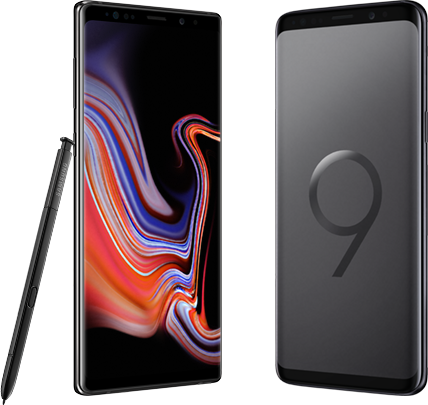 Galaxy Note9 versus Galaxy S9 Plus