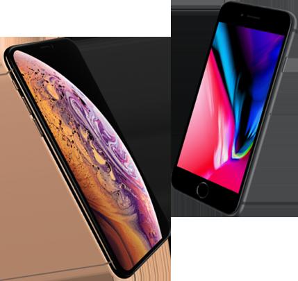 Vergelijk iPhone Xs met iPhone 8