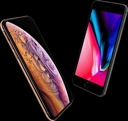 Vergelijk iPhone Xs en iPhone 8 Plus