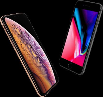 Vergelijk iPhone Xs Max met iPhone 8