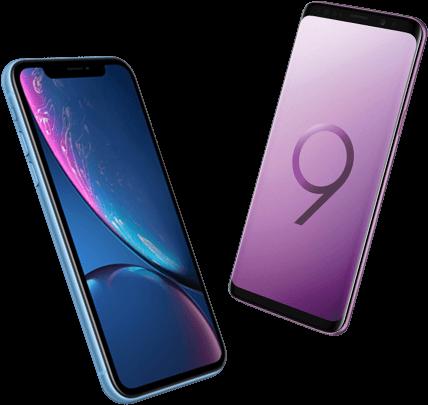 iPhone Xr versus Samsung Galaxy S9