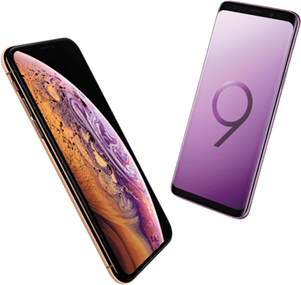 iPhone Xs versus Samsung Galaxy S9
