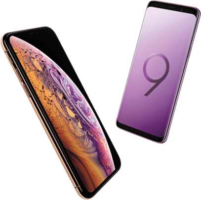 iPhone Xs Max versus Samsung Galaxy S9