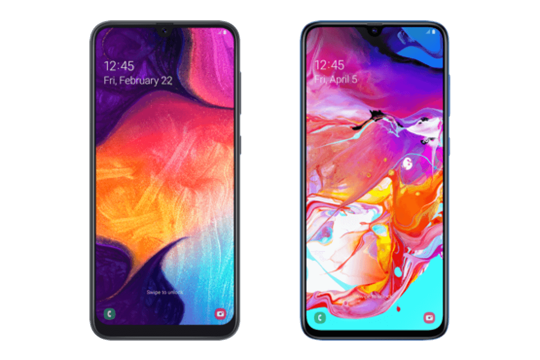 Samsung Galaxy A50 vs A70