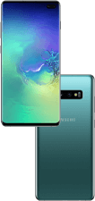 Samsung Galaxy S10 Plus hero mobile blue green
