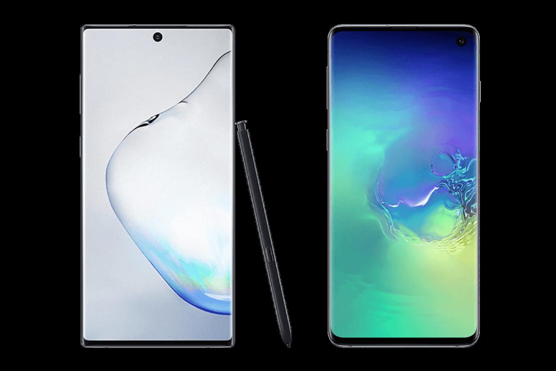 Verschil Samsung Galaxy Note10 en S10 banner