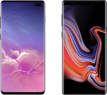 Samsung Galaxt S10 versus Note 9
