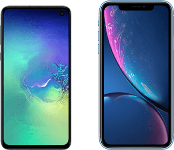 Verschil Samsung Galaxy S10e en Apple iPhone Xr