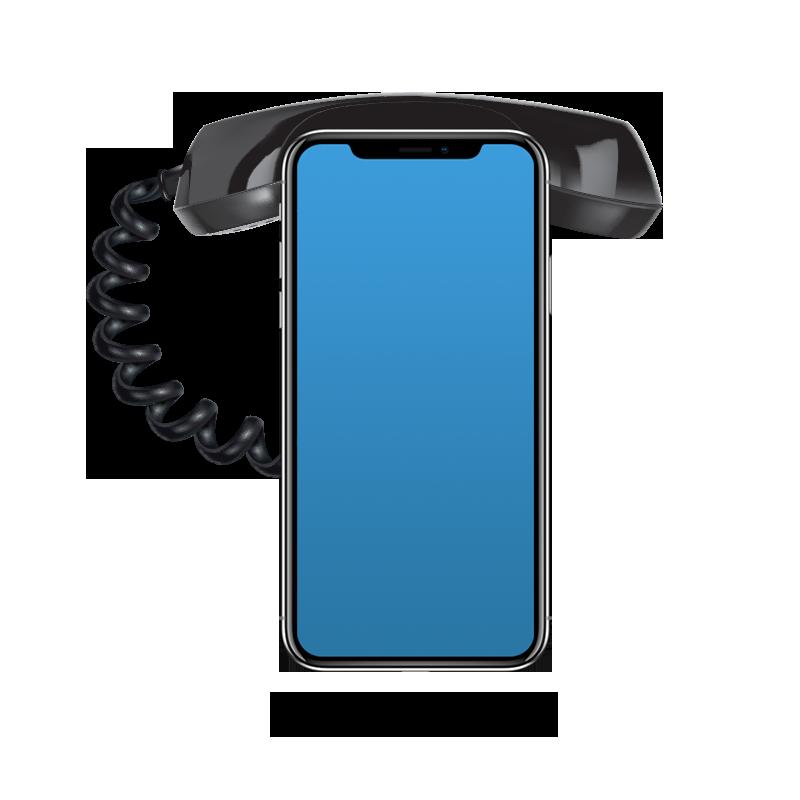 vast op mobiel