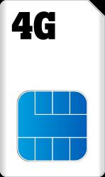Sim Only dubbel blauw