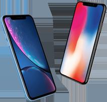 iPhone Xr versus iPhone X mobiel