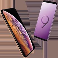 iPhone Xs Max versus Samsung Galaxy S9 mobiel