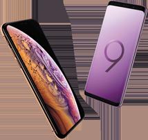 Apple iPhone Xs versus Samsung Galaxy S9 mobiel