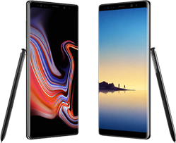 Samsung Galaxy Note 9 versus Note 8 hero