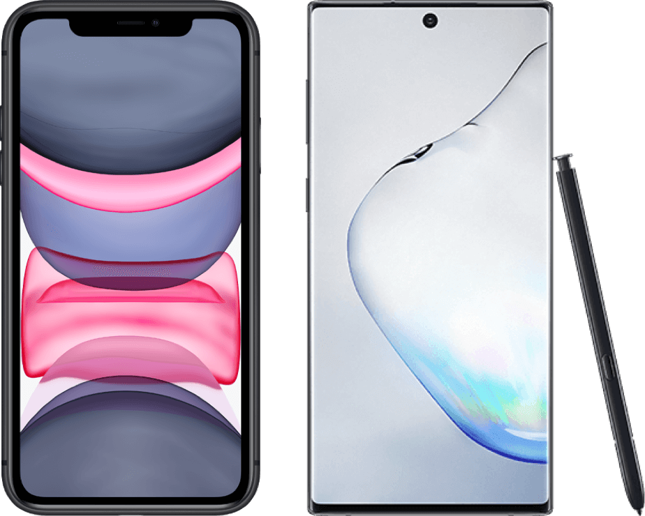 iPhone 11 vs Galaxy Note 10