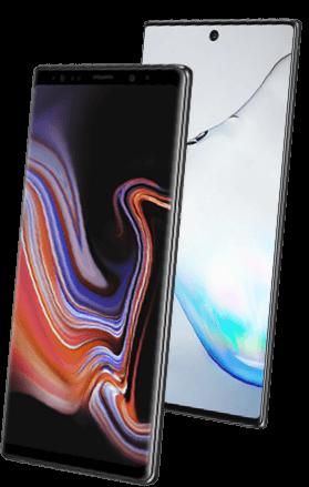 Samsung Galaxy Note 9 versus Samsung Galaxy Note 10 hero verschil