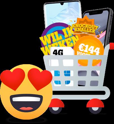 mobiel aanbiedingen hero nieuwe visual winkelwagentje Tele2